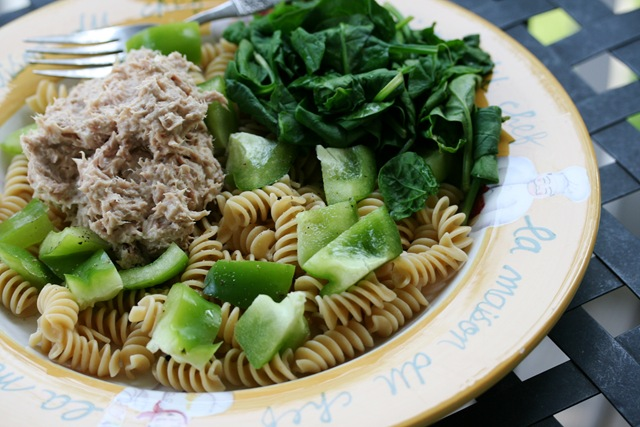 Quick Easy Dinner Cold Tuna Veggie Pasta Salad